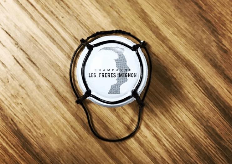 Champagne Les Freres Mignon vinos de Caskadia